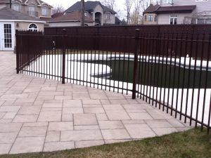 patio construite avec pavé